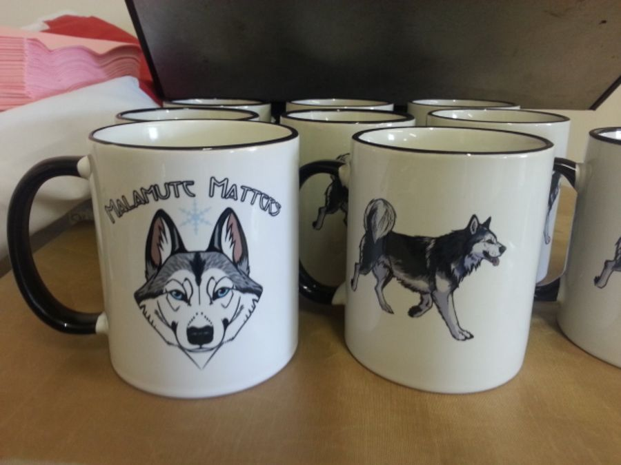 Personalised Coloured Handle & Rim Printed Mugs
