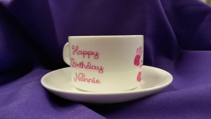 Personalised Printed Tea Cup & Saucer
