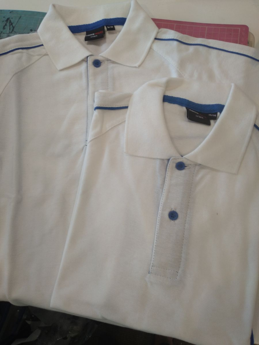 Boys Sports White/Royal Polo Shirt