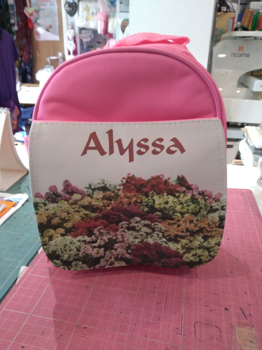 Full Colour Printed Boys/Girls Lunch Bag Pink/Blue