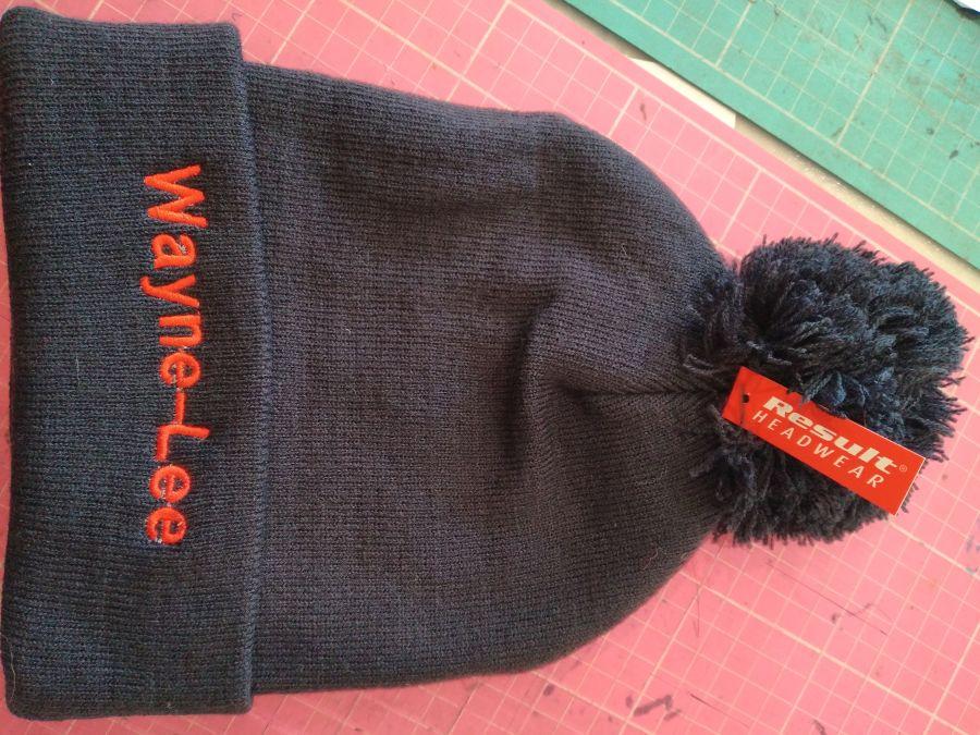 Boys/Girls Embroidered Unisex Bobble/Pom Pom Hat Beanie