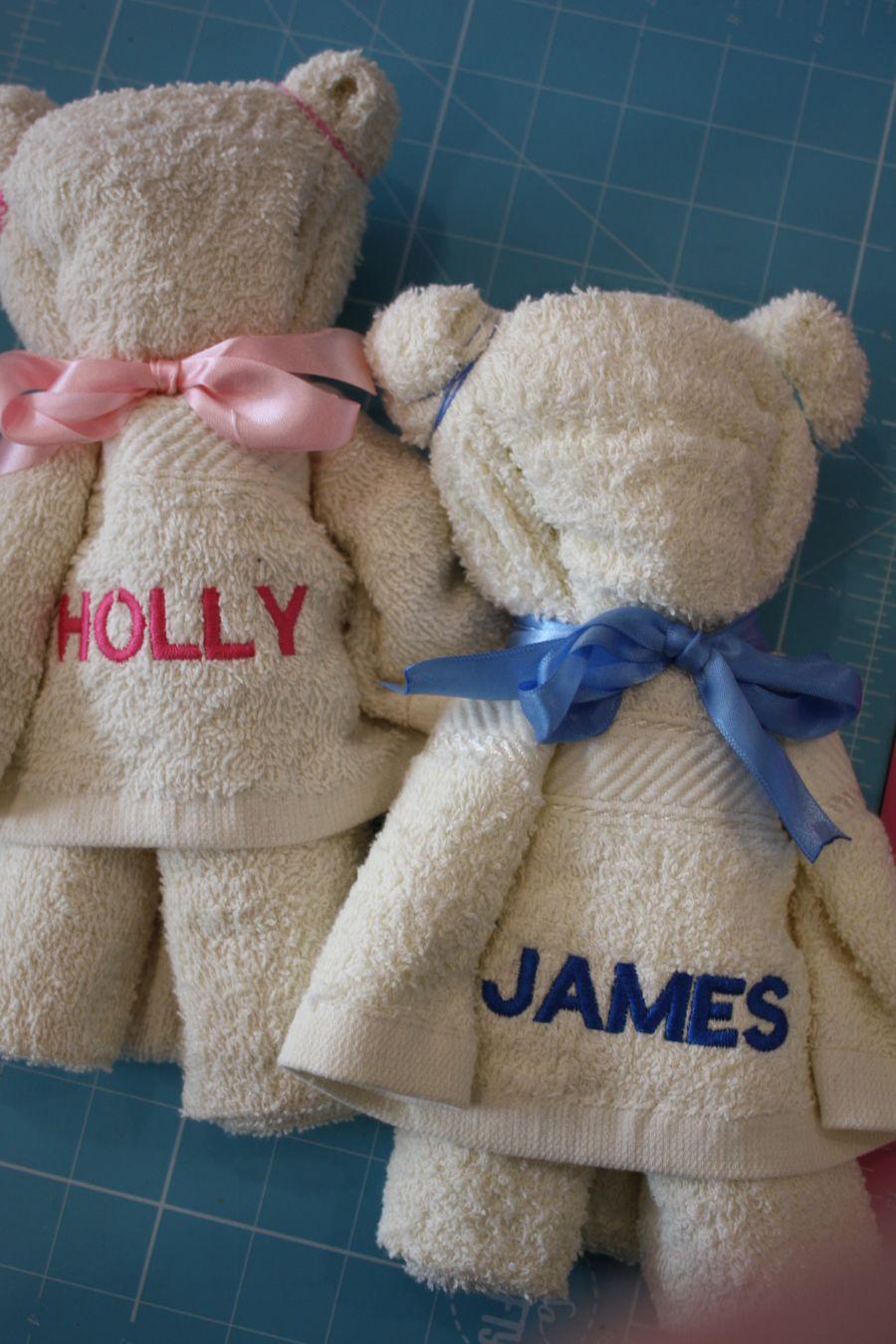 Personalised Teddy Shaped Hand Towel