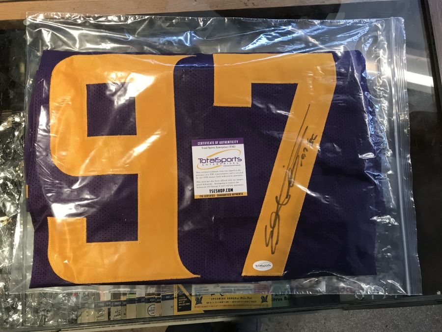 Everson Griffen Signed Vikings Color Rush Jersey Inscribed BG
