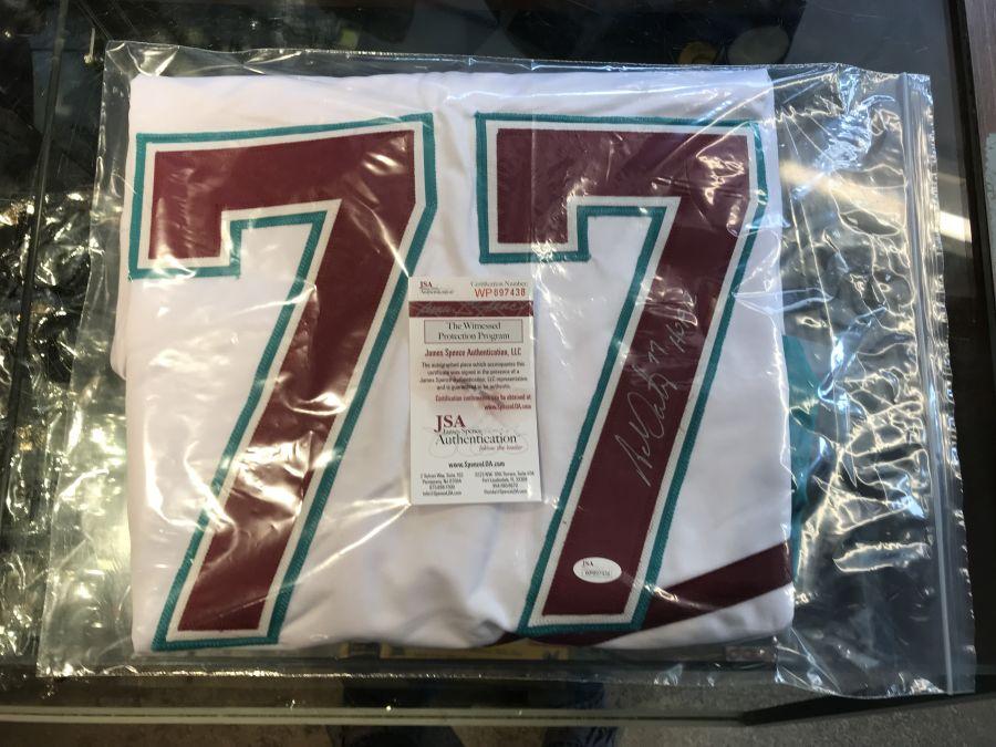 Adam Oates Signed Ducks Jersey Inscribed HOF 12