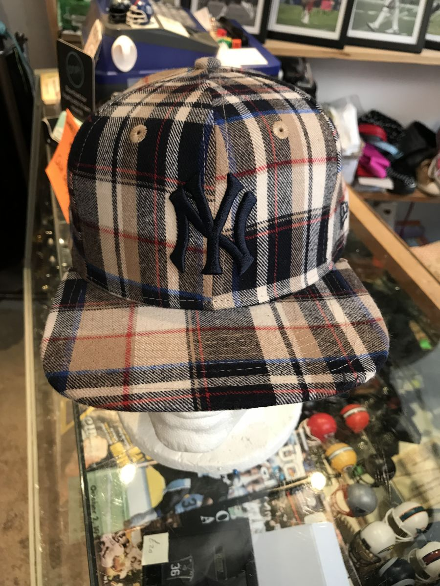 New York Yankees tartan snapback cap