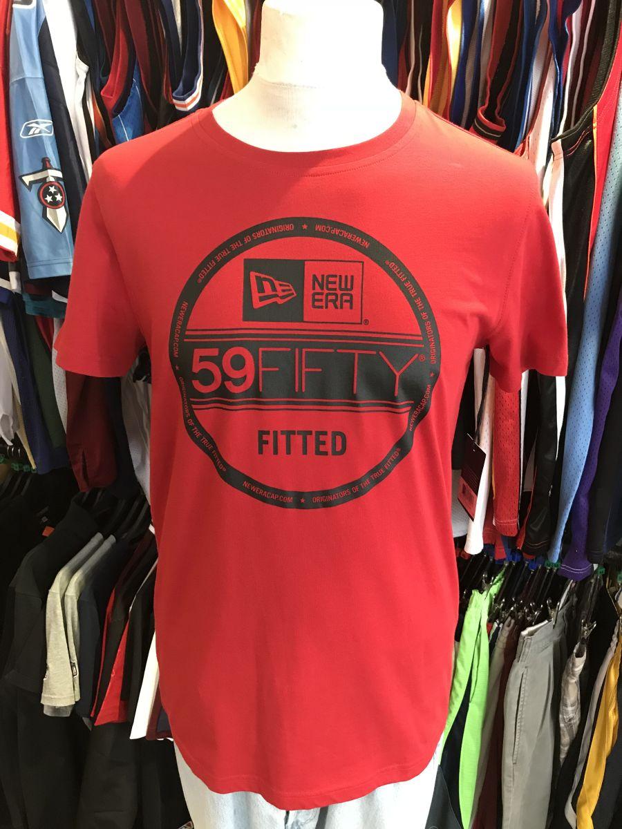New Era red sticker t-shirt