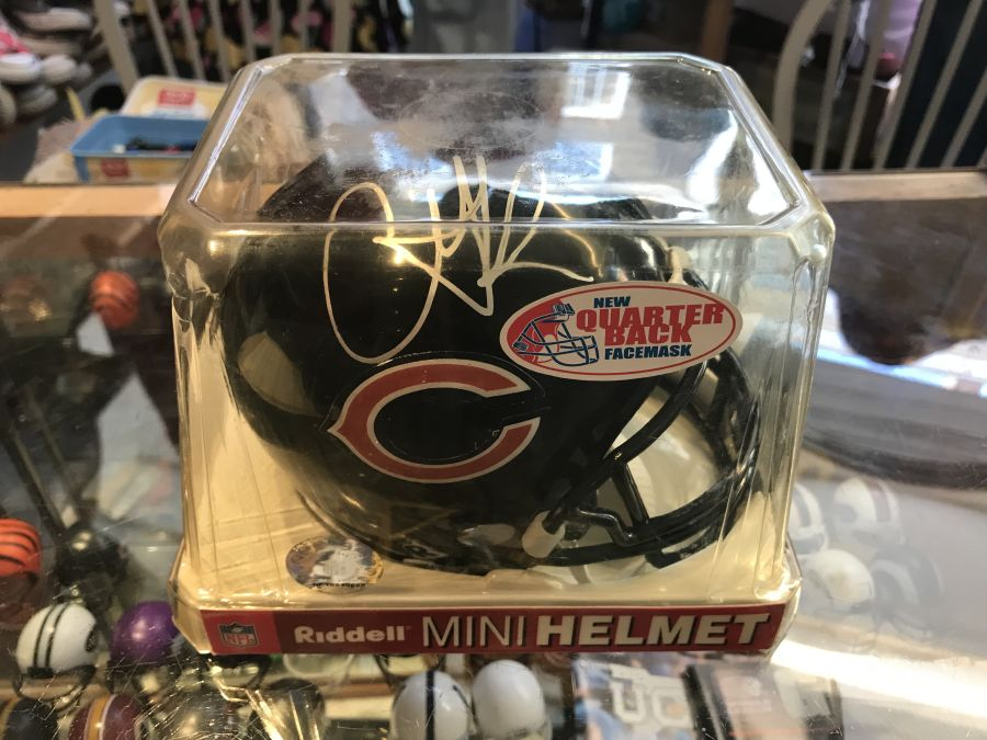 Chicago Bears Autographed Mini Helmet by Anthony Thomas