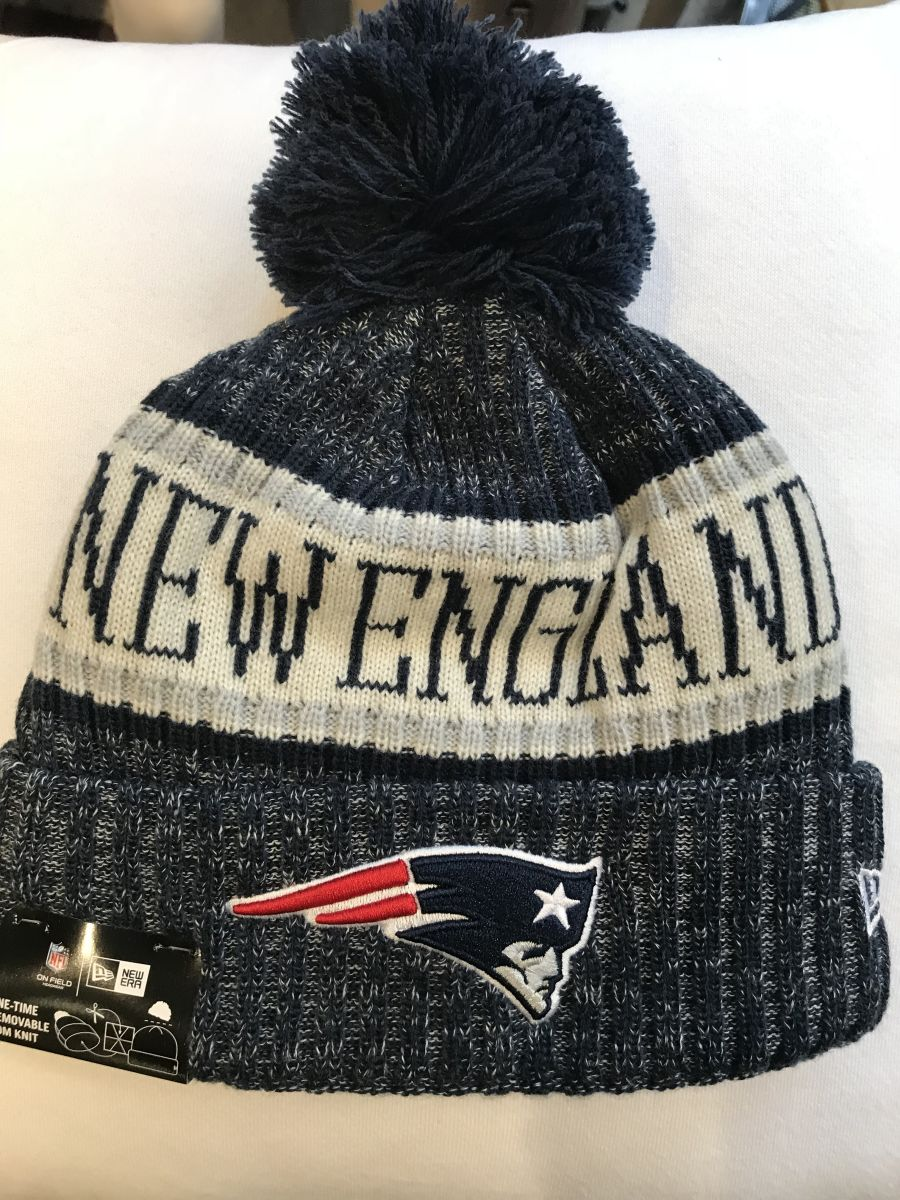 New England Patriots sideline knit hat