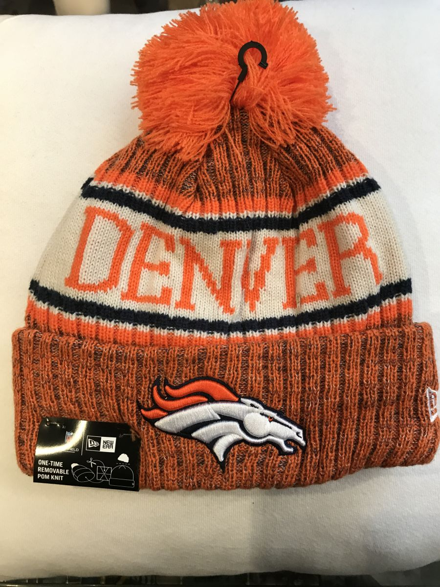 Denver Broncos sideline knit hat