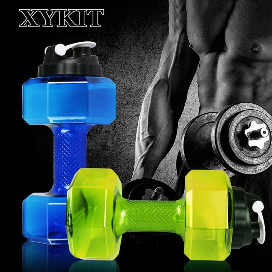 Dumbbell Cup Fitness Water Bottle  550ml and 2.2L