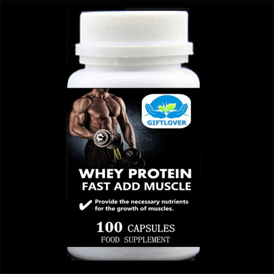 Fast add muscle Whey protein capsules
