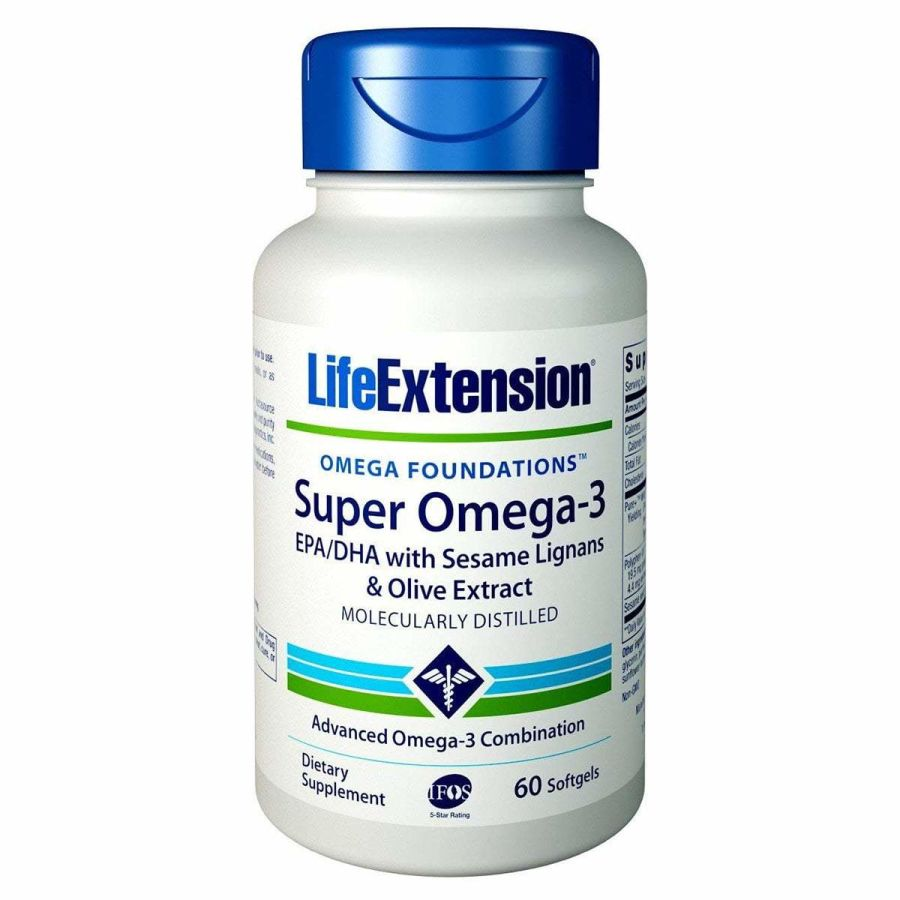Super Omega 3 EPA/DHA with Sesame Lignans & Olive Extract