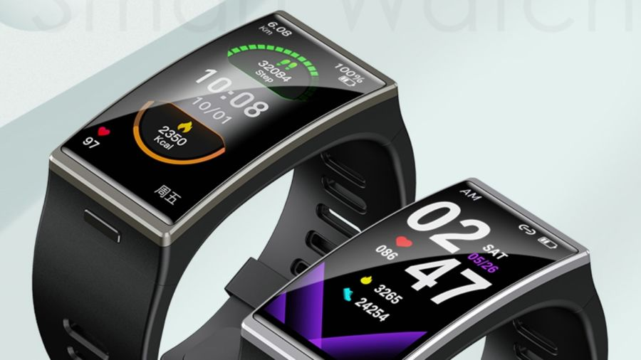 Curved screen smartwatch