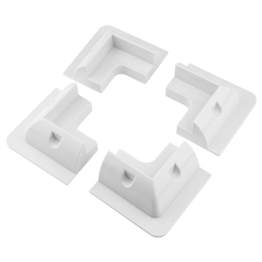 Abs drill free corner brackets set of 4