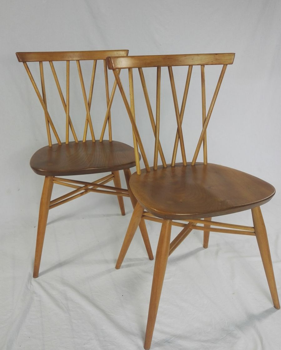 Ercol 376 Lattice candlestick chair