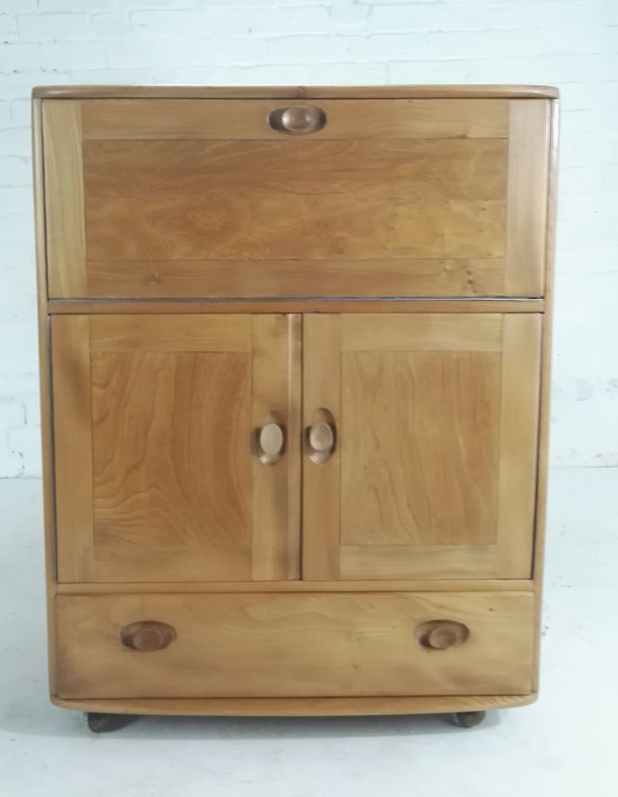 Rare Ercol Windsor 430 serving cabinet / bureau