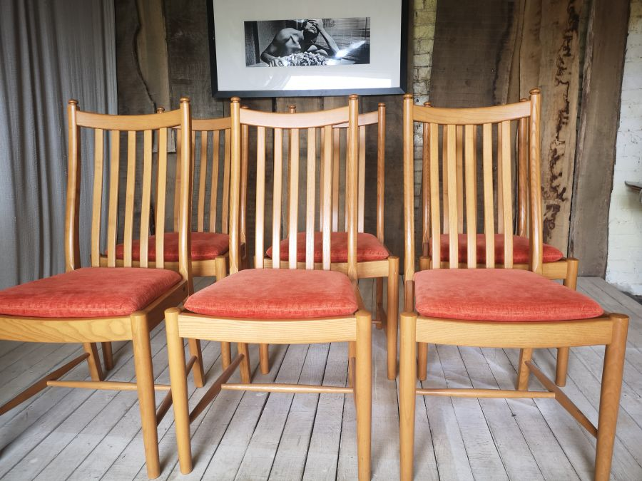 Set of four Ercol Windsor Penn Classic dining chairs