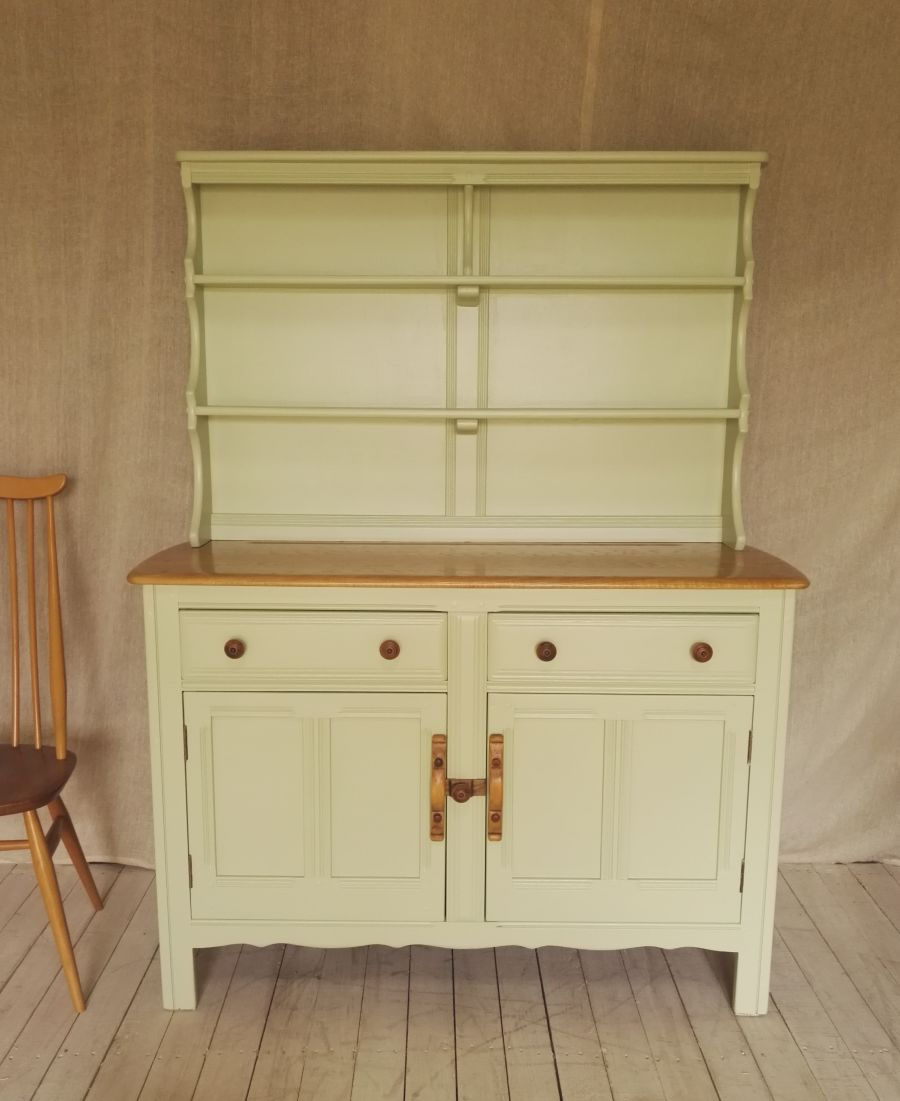 Ercol elm painted Welsh dresser