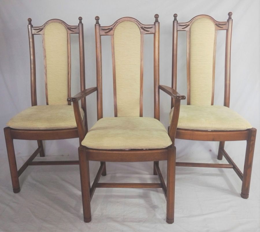 Set of 6 Ercol Wheatsheaf Arts & Crafts Dining Chairs