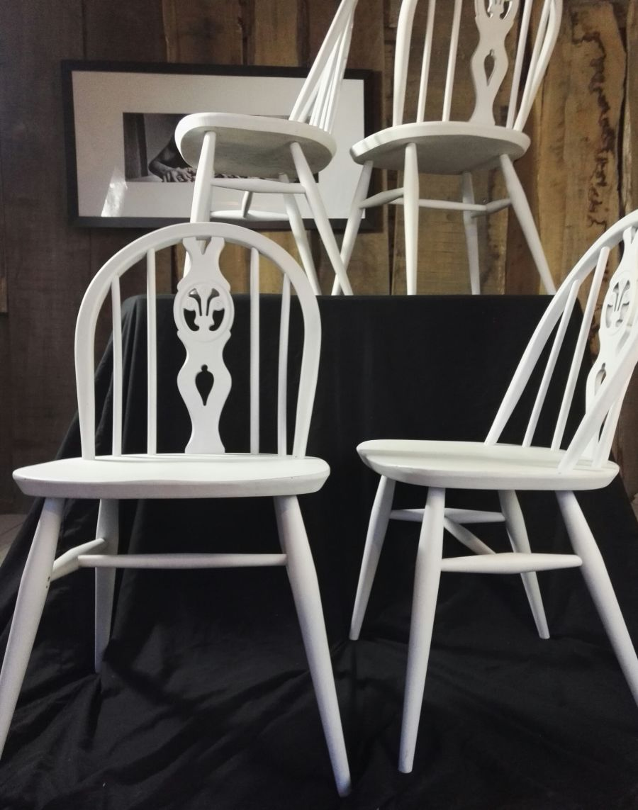 Ercol Hand Painted Dining Chairs
