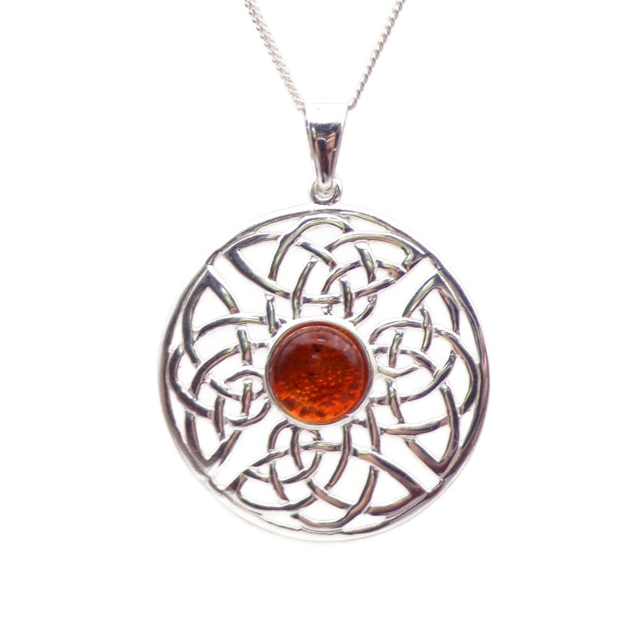 Amber Celtic necklace - New Moon Enterprise
