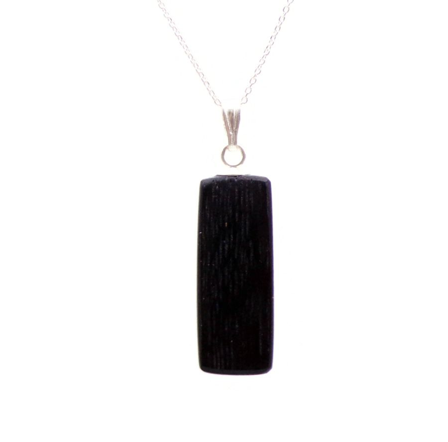 Rectangular Ingot Necklace in 5000 year old Irish Bog Oak