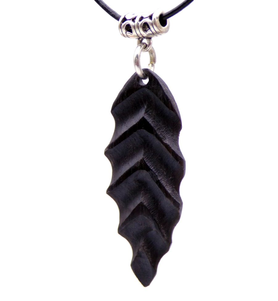 Arrow Spear head Pendant Necklace handcrafted in 3000 year old English Bog Oak Wood