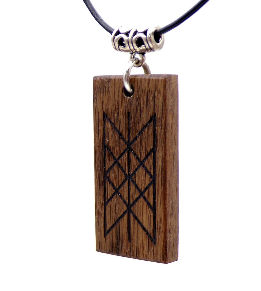 The Web of Wyrd (Skuld's Net) Pendant Necklace handcrafted from 5000 year old Irish Bog Oak