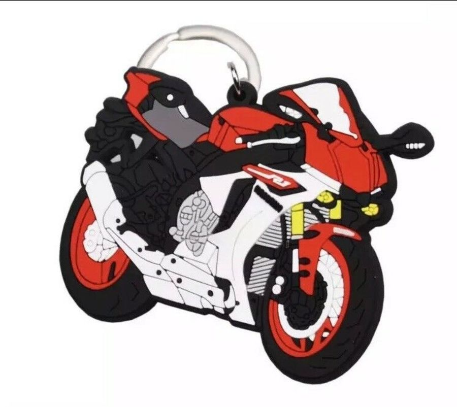 Yamaha R1 Red and White R1 Keyring