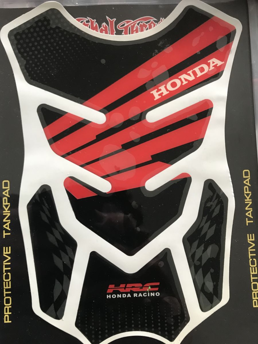 Honda HRC Tank Pad Black / Red