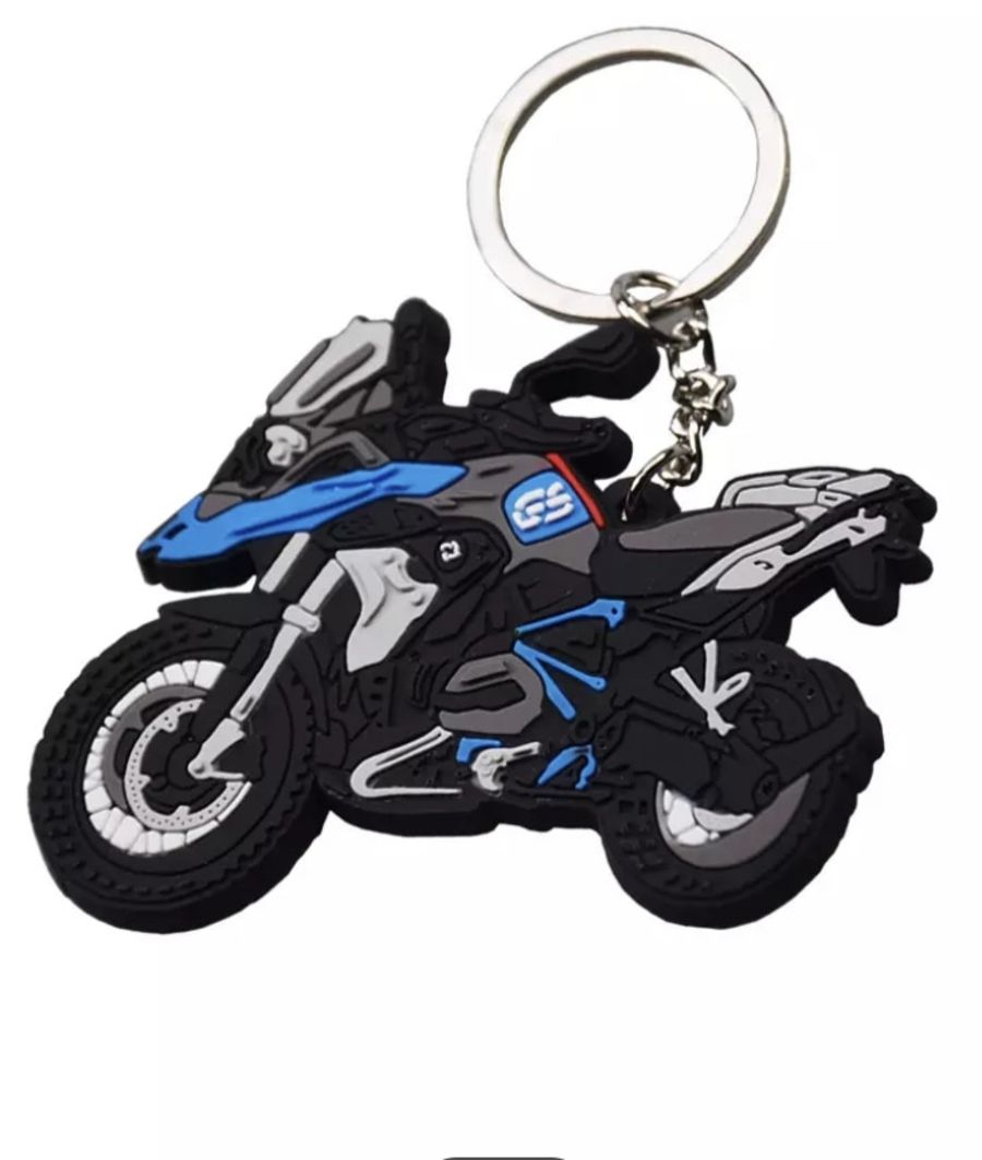 BMW R1200GS Blue Keyring