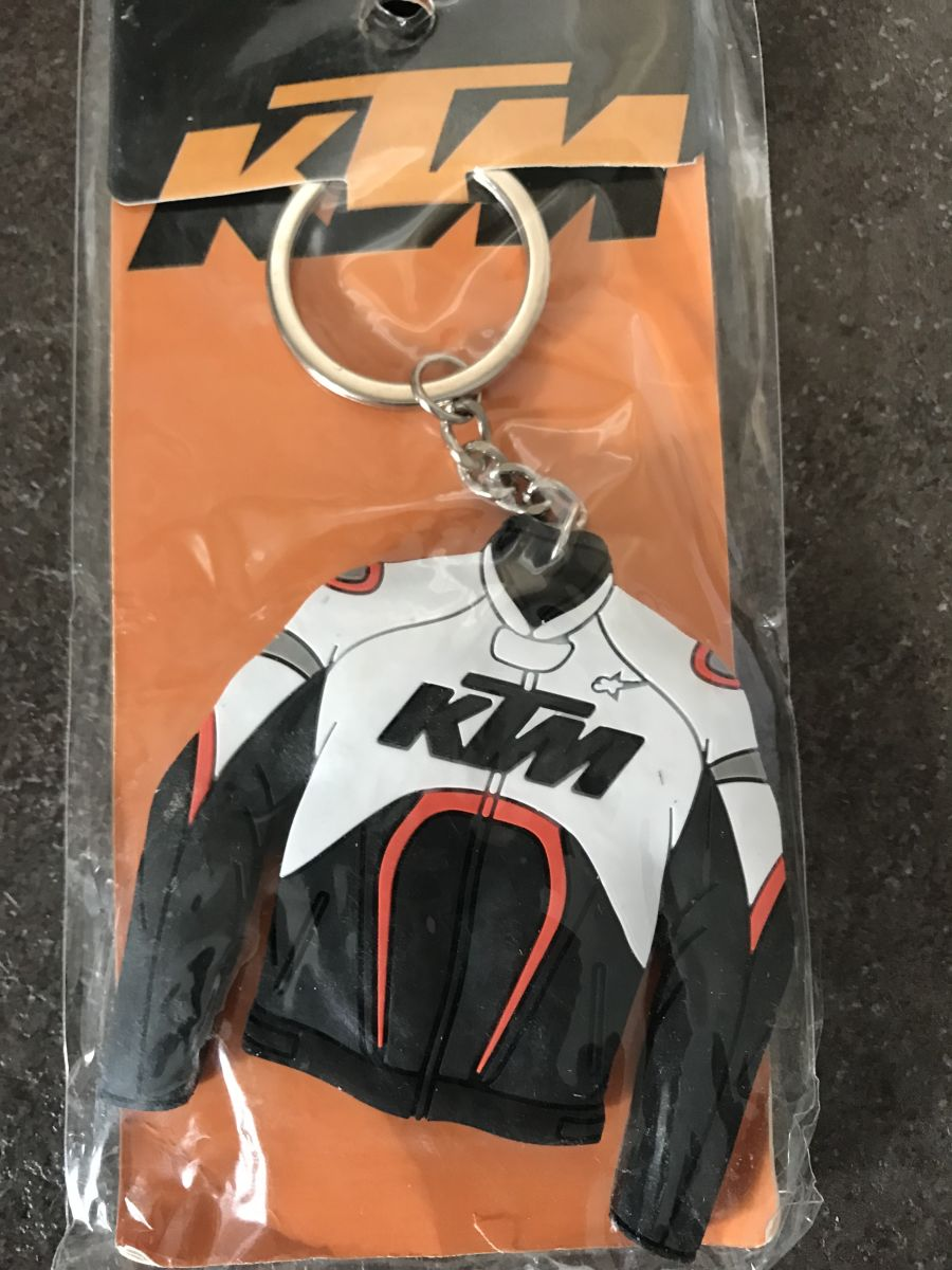 KTM White and Orange Jacket Keychain