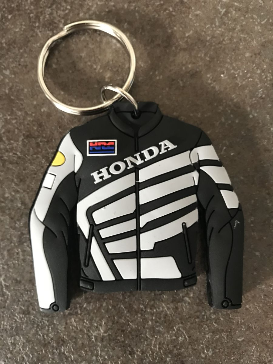 Honda Black Jacket Keyring