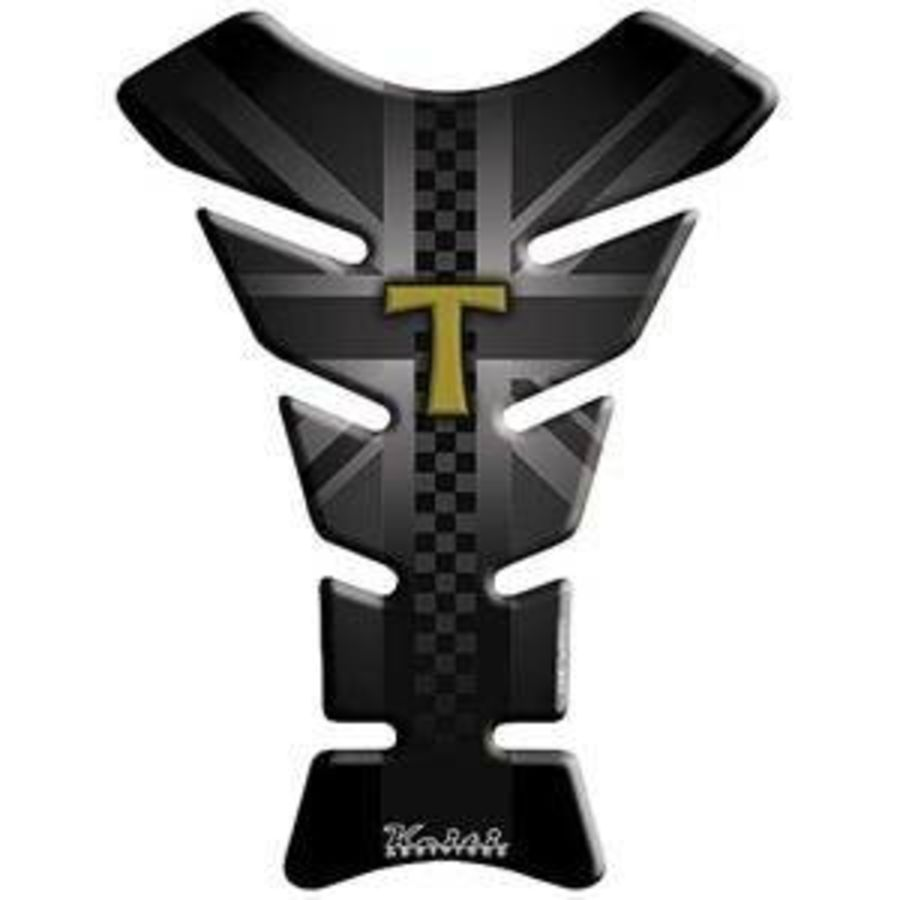 Triumph Black and Gold Tank Pad