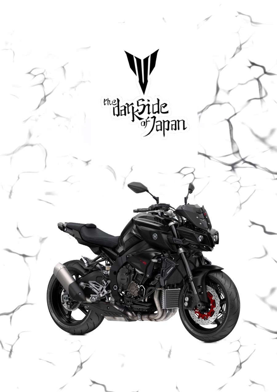 Black Yamaha MT10 garage sign