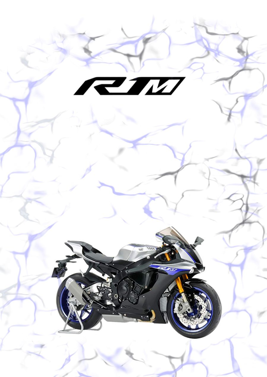 Yamaha R1M blue Garage Sign