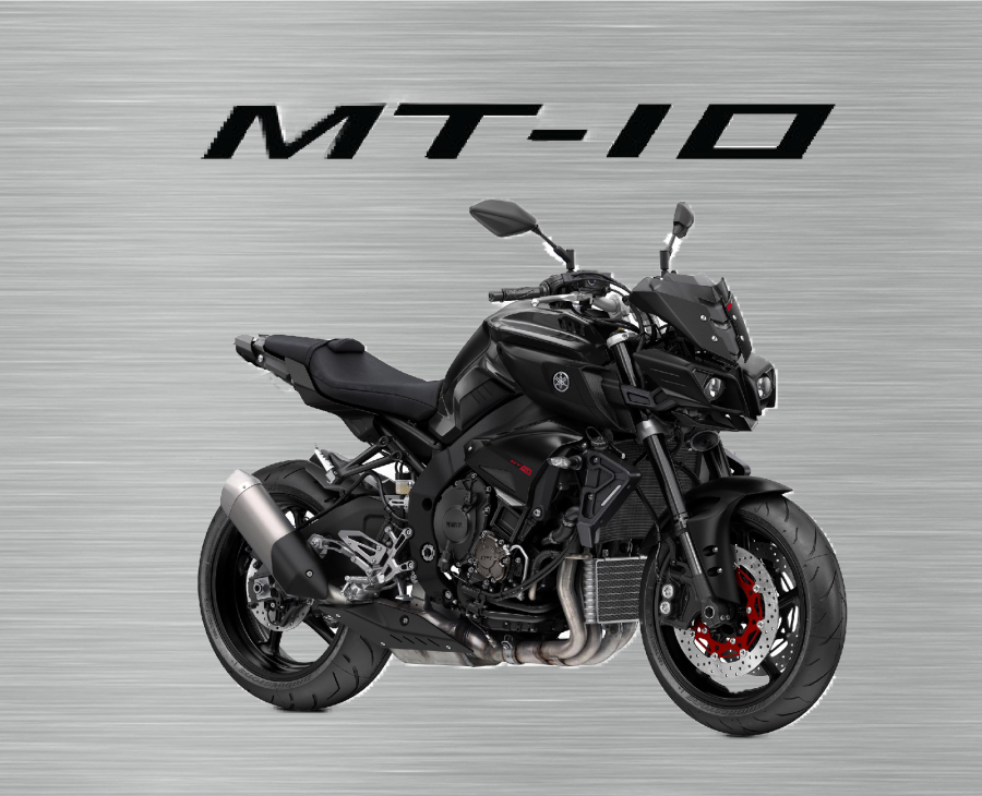 Black Yamaha MT10 garage sign plain