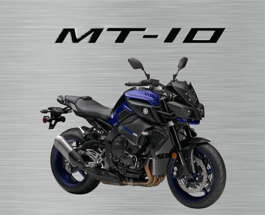 Blue/Black Yamaha MT10 garage sign plain