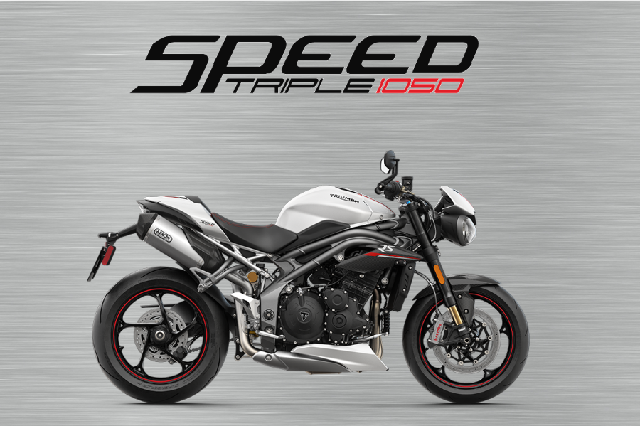 Triumph Speed triple RS white garage sign