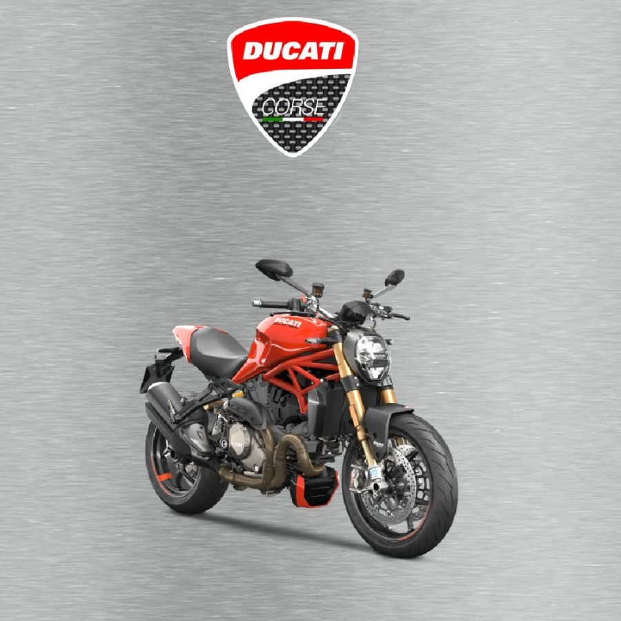 Ducati monster Garage Sign silver