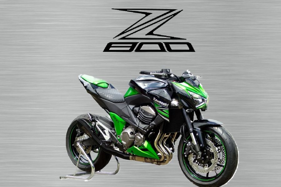 Kawasaki Z800 garage sign