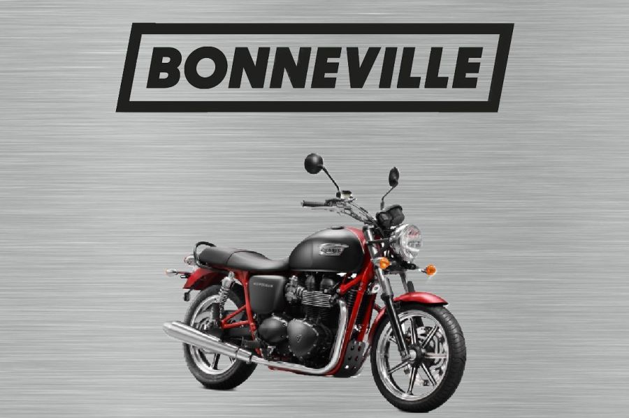 Triumph bonneville sign black and red