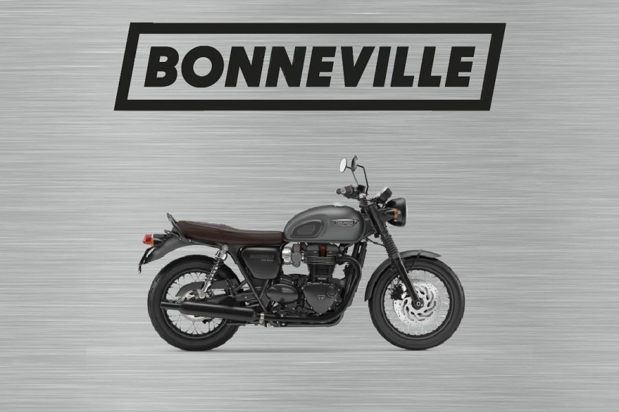 Triumph bonneville sign grey and black
