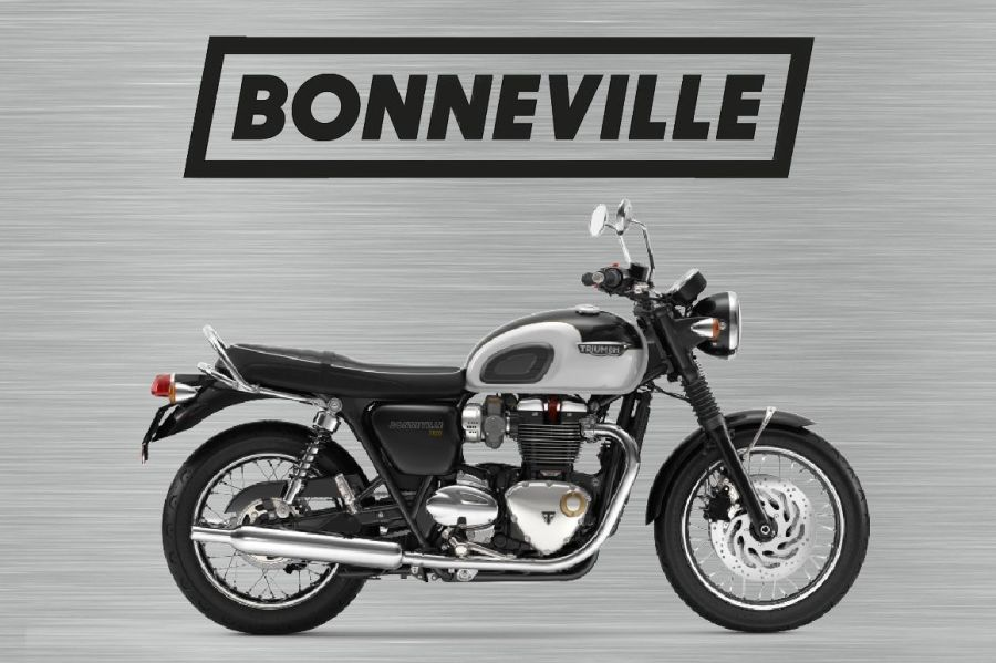 Triumph bonneville sign silver