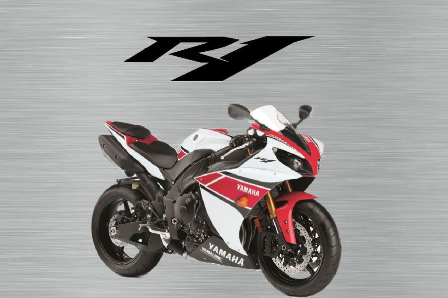 Yamaha R1 2012 Red and White Garage Sign
