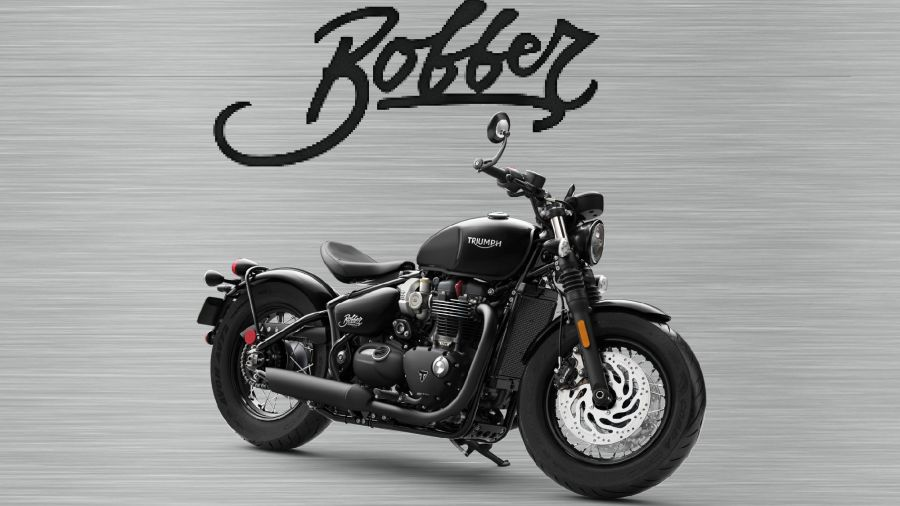 Triumph Bobber black sign