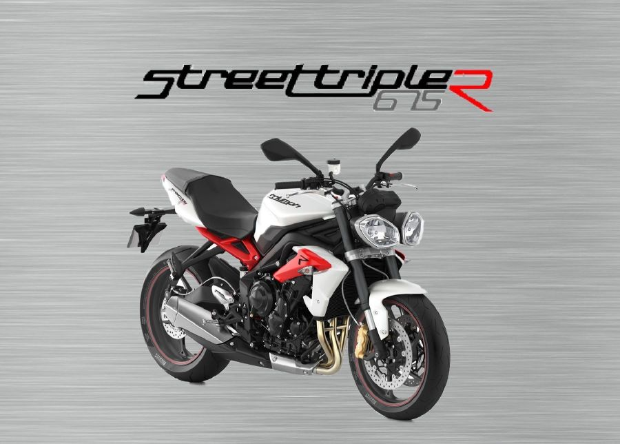 Triumph Street triple R 675 garage sign White