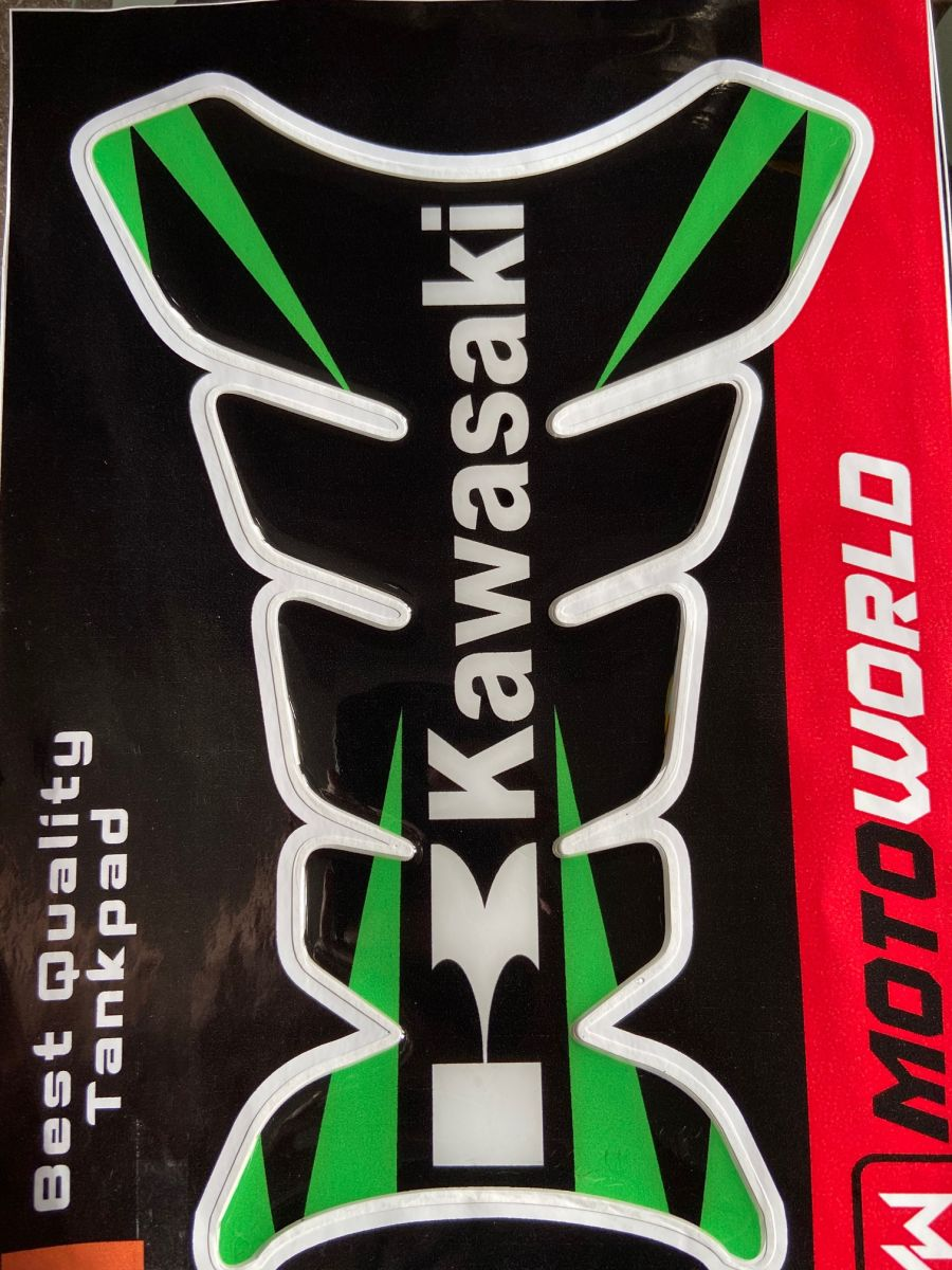 Kawasaki green and Black Tank Pad