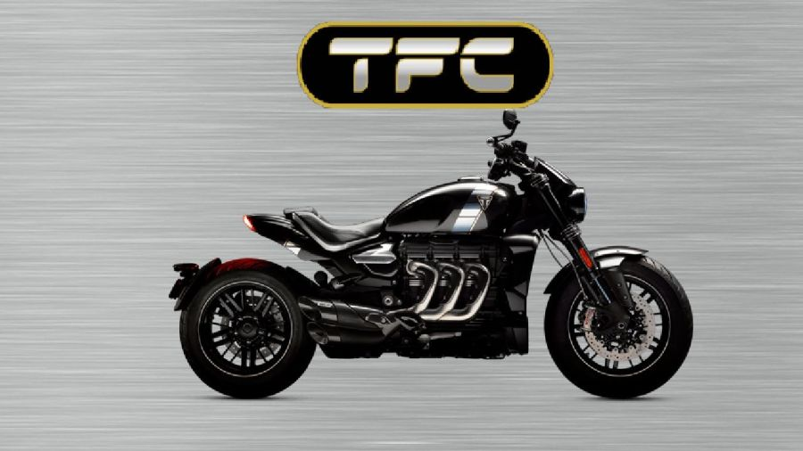 Triumph Rocket 3  TFC garage sign