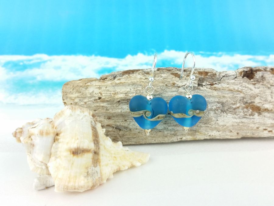 Turquoise Heart Earrings Small